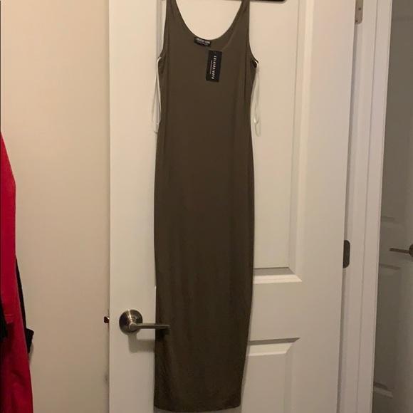 Fashion Nova Dresses & Skirts - NWT olive fashion nova tank midi dress